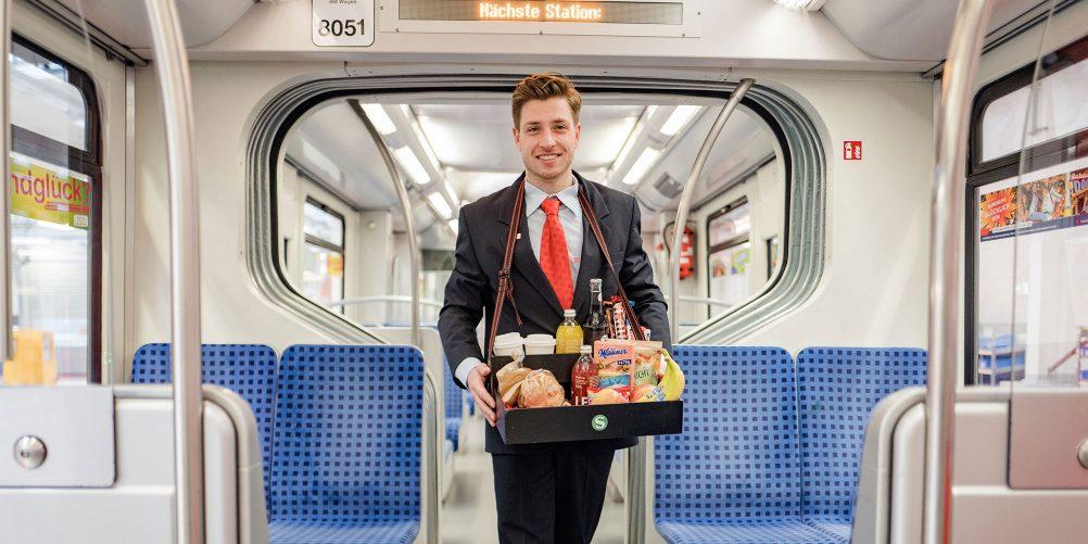 Für den kleinen Hunger zwischendurch – der mobile Snack-Service  der S-Bahn Hamburg