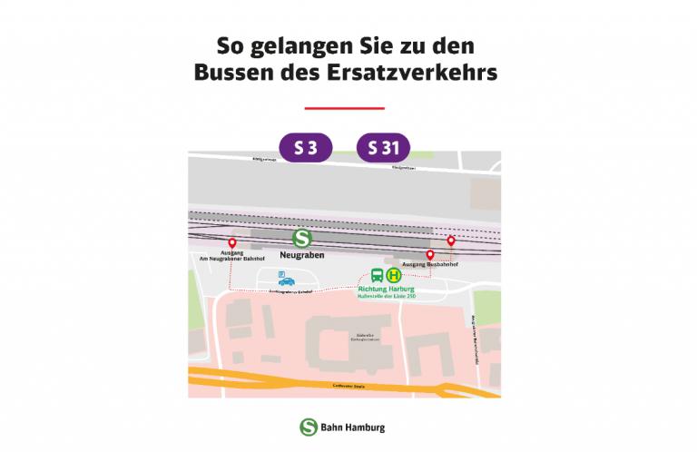 Der Weg zum Ersatzverkehr – wir zeigen euch wie ihr zu den Bussen kommt