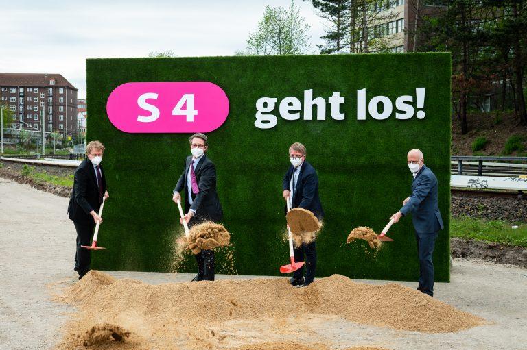 S4 geht los! – Spatenstich zum Baubeginn in Hamburg